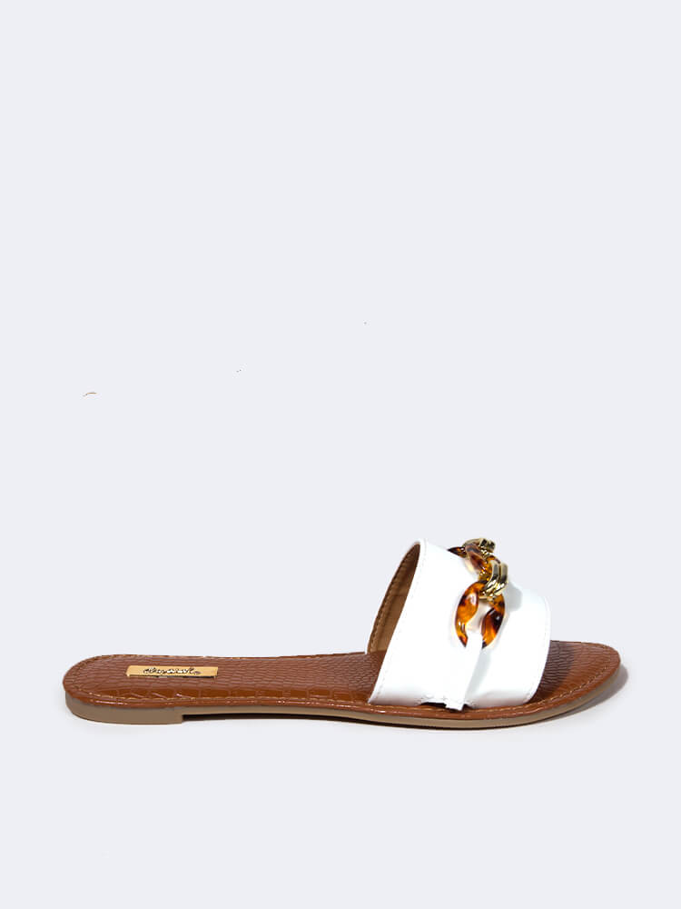 Leopard Buckle One Band Sandal