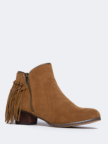 Bailey Low Heel Fringe Boot