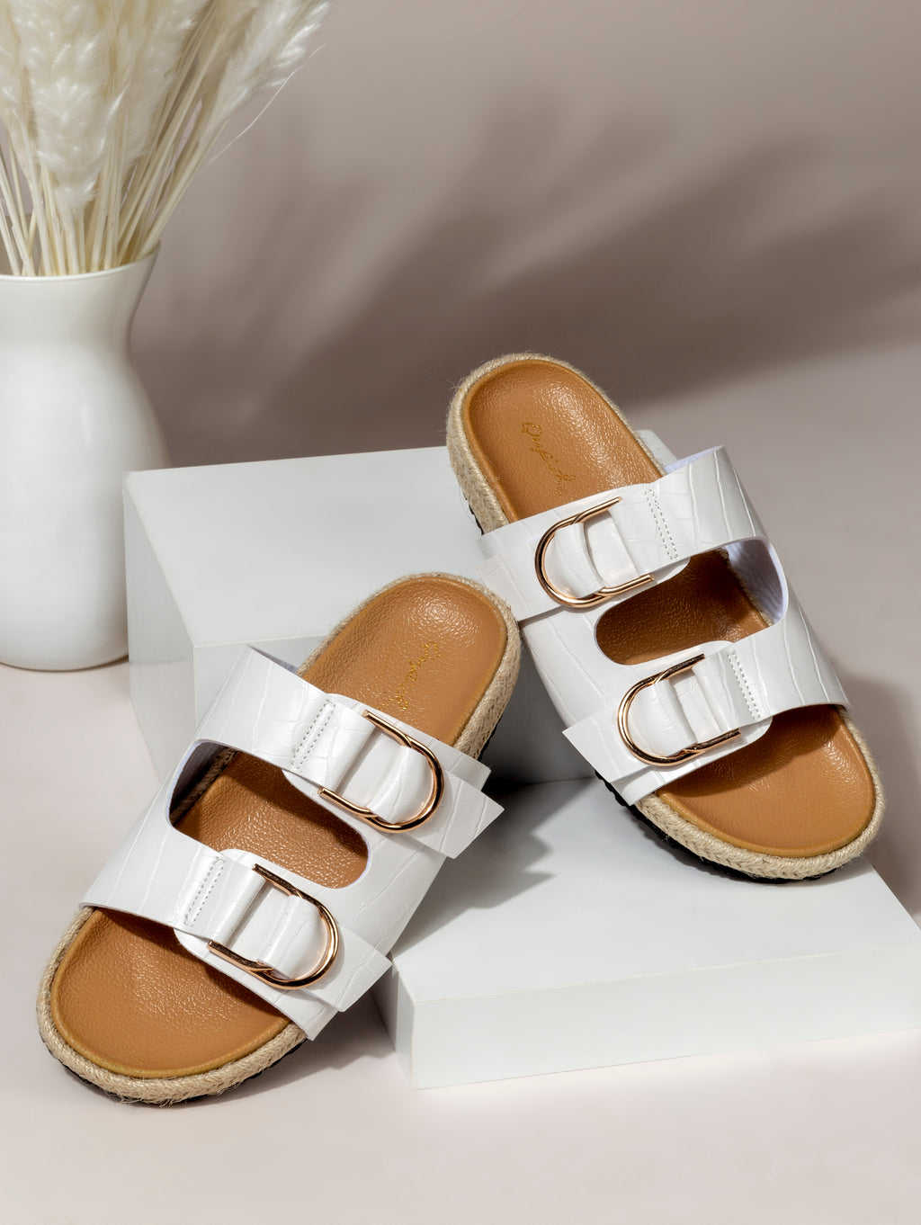 Double Buckle Band Sandal