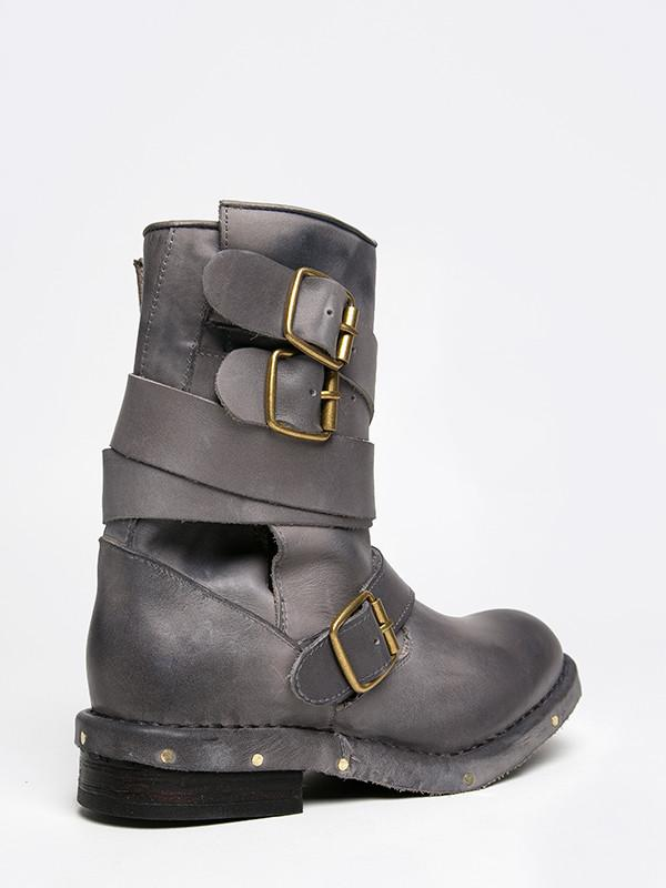 Jeffrey Campbell Brit-2 Grey Leather