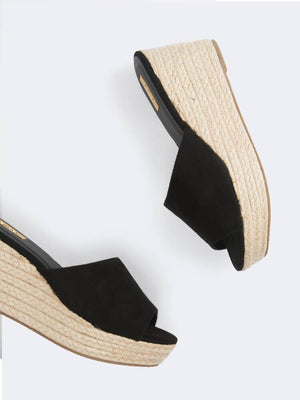 Slide On Espadrille Wedge