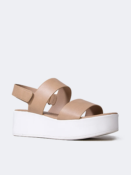 Double Band Platform Sandal