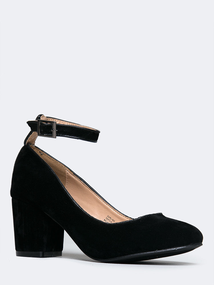 Darling Suede Heeled Pump