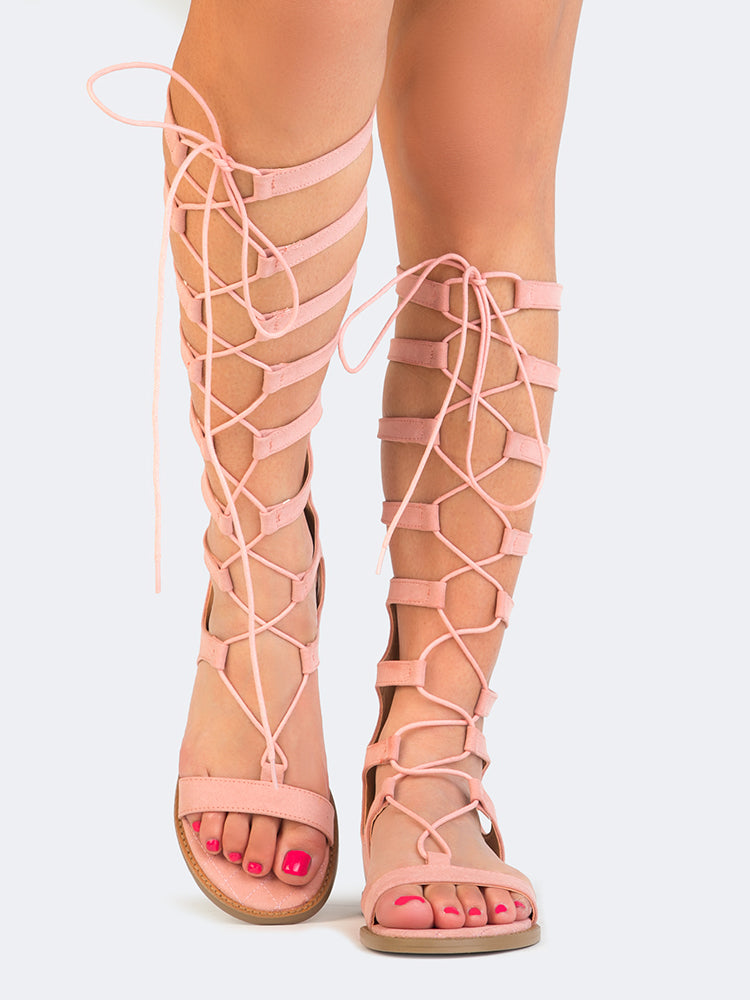 great look latest discount catch Lace Up Gladiator Sandals