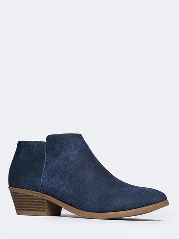 Lexy Low Heel Ankle Bootie