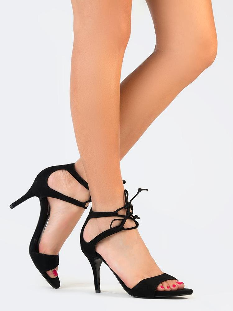 LACE UP ANKLE SANDAL