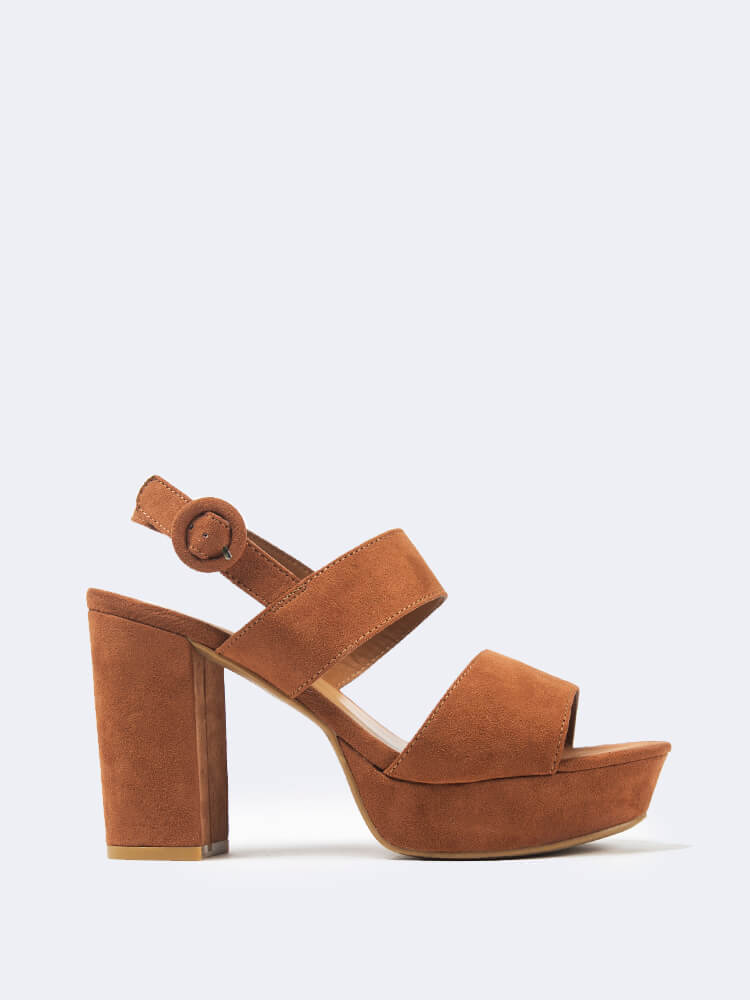 Double Band Platform Chunky Heel