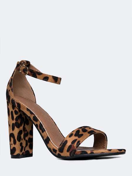 Strappy Chunky Block High Heel
