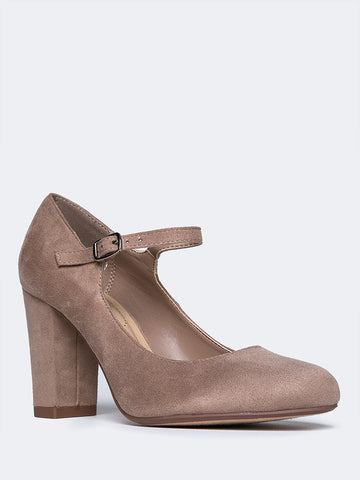 Mary Jane Round Toe Block Heel