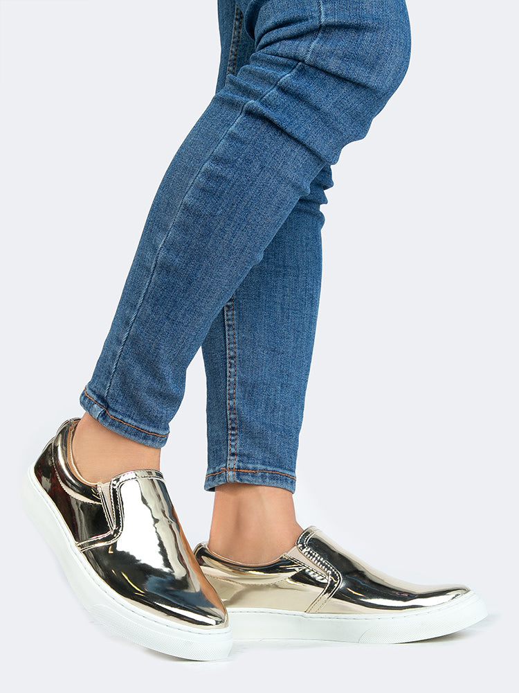 Metallic Slip On Sneaker