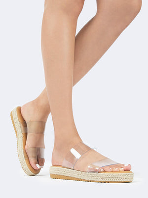 Clear Double Band Espadrille Sandal
