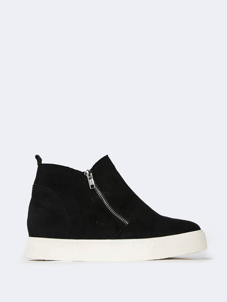 Zip Up Sneaker Wedge