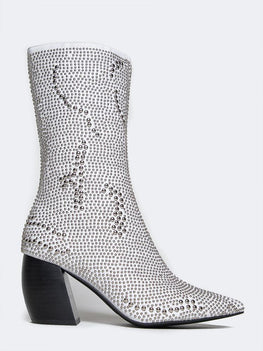 Jeffrey Campbell Tork Stud White Silver