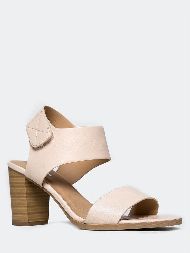 Peep Toe Low Stacked Heel