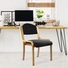 Tahara - Beech Framed Stackable Side Chair with Upholstered and Padded Seat and Backrest