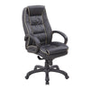 Truro - High Back Leather Faced Executive Armchair with Contrasting Piping