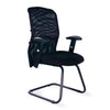 Mesh Back Visitor Armchair with Adjustable Lumbar Support - Black