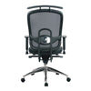 Freedom - High Back Mesh Synchronous Executive Armchair with Coat Hanger And Chrome Base - Black