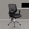 Mesh Back Task Operator Armchair with Chrome Base - Black