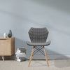 Amelia - Stylish Lightweight Fabric Chair with Solid Beech Legs and Contemporary Panel Stitching