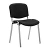 Chrome Framed Stackable Conference/Meeting Chair - Black Vinyl - Minimum Order Quantity -10