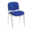Chrome Framed Stackable Conference/Meeting Chair - Blue - Minimum Order Quantity -10