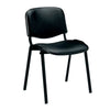 Iso - Black Framed Stackable Conference/Meeting Chair - Minimum Order Quantity -10