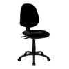 Medium Back Operator Chair - Twin Lever - Black