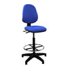 Medium Back Draughtsman Chair - Twin Lever - Blue