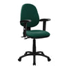 Medium Back Operator Chair - Twin Lever with Height Adjustable Arms - Green