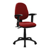 Medium Back Operator Chair - Twin Lever with Height Adjustable Arms - Wine