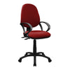 Medium Back Operator Chair - Twin Lever with Fixed Arms - Wine