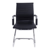 Aura - Contemporary Medium Back Bonded Leather visitor Chair with Chrome Frame