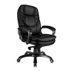 Luxurious High Back Leather Executive Chair - Black