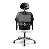 Hermes - High Back Mesh Synchronous Executive Armchair with Adjustable Lumbar Support, Arms, Headrest and Chrome Base - Black