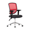 Medium Back Designer Mesh Operator Chair with Sculptured Lumbar, Spine Support and Height Adjustable Arms - Red