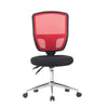 Medium Back Designer Mesh Operator Chair with Sculptured Lumbar and Spine Support - Red