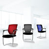 Nexus - Medium Back Two Tone Designer Mesh Visitor Chair with Sculptured Lumbar, Spine Support and Integrated Armrests