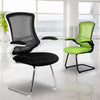 Designer Medium Back Mesh Cantilever Chair with Black Shell, Black Frame and Folding Arms - Black