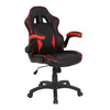 Executive Ergonomic Gaming Style Office Chair with Folding Arms, Integral Headrest and Lumbar Support - Black/Red