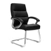 Greenwich - High Back Leather Effect Executive Visitor Armchair with Contoured Design Backrest and Chrome Base