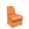 Contemporary Modular Fabric Low Back Sofa - Convex- Orange
