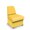Contemporary Modular Fabric Low Back Sofa - Convex- Yellow