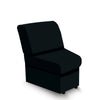 Contemporary Modular Fabric Low Back Sofa -  Concave - Black
