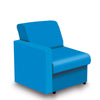 Contemporary Modular Fabric Low Back Sofa - Right Hand Arm - Blue