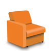Contemporary Modular Fabric Low Back Sofa - Right Hand Arm - Orange