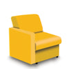 Contemporary Modular Fabric Low Back Sofa - Right Hand Arm - Yellow