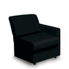 Contemporary Modular Fabric Low Back Sofa - Left Hand Arm - Black