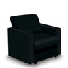Contemporary Modular Fabric Low Back Sofa - Armchair - Black