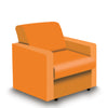 Contemporary Modular Fabric Low Back Sofa - Armchair - Orange